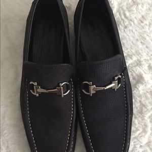 Black Leather Men's Ferragamo Shoes